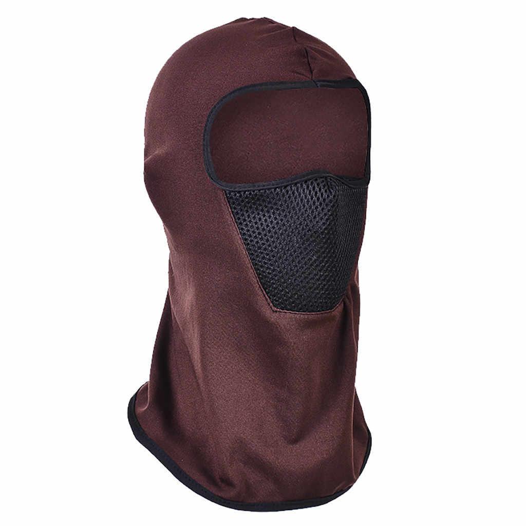 Unisexe tactique moto cyclisme chasse en plein air Ski masque intégral casque coupe-vent équitation nouveau casquette gorros mujer invierno # ZA