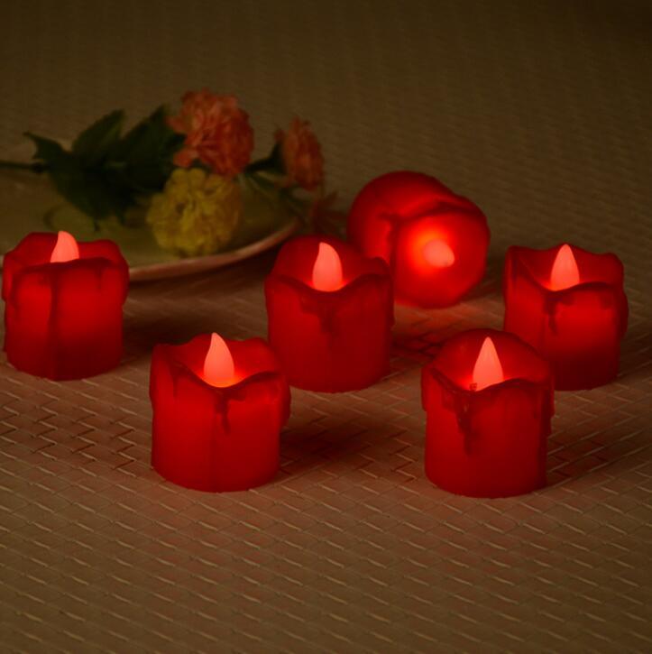 Electronic Candle Lamp LED Small Tea Wax Wedding Bar Candle