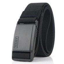 Cinturón de nailon con hebilla magnética de Metal para hombre, cinturones elásticos de combate militar, resistentes al desgaste, alta calidad, 2020