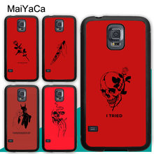 MaiYaCa Red Doodles Aesthetics Quotes Phone Cases For Samsung Galaxy S5 S6 S7 edge S8 S9 S10 Plus Lite Note 8 9 Back Coque Cover(China)