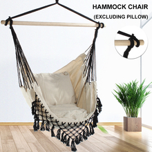 Hanging Hammock Chair Swing Wooden-Rod Garden 130x100 Outdoor Home with Dormitory Nordic-Style