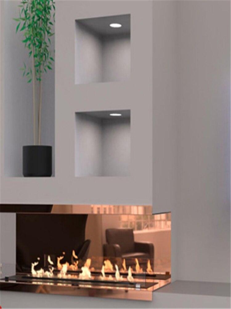 18 Inch  Wifi Real Fire Intelligent Automatic Smart Alexa Wlan Low Profile Ethanol Fireplace