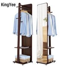KingYee Full-length mirror, coat rack with mirror, multi-function storage mirror,living room furniture mirror,large floor mirror