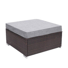 Oshion Single Outdoor Patio PE Wicker Rattan Ottoman Pedal Sofa
