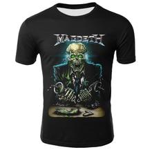 Hip Hop 3D Megadeth T-shirts Men/Women Summer Tops Tee O-neck Short Sleeve Cool Streetwear Fashion S