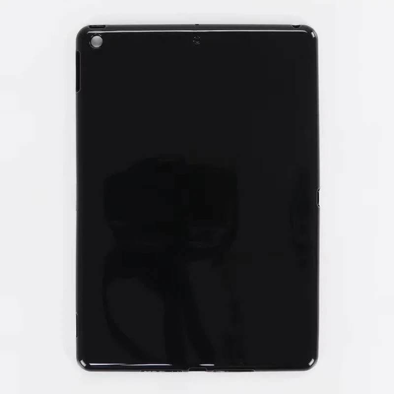 TPU-Black Gray Trifold Leather Smart Case for iPad 10 2 7th generation 2019 Slim Translucent PC Back Cover