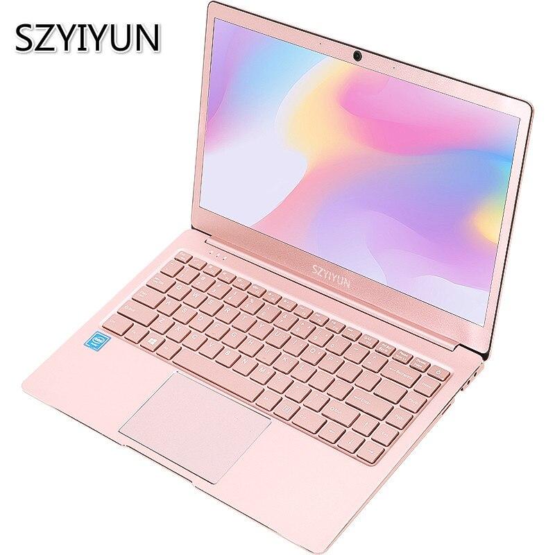 J3355 J3455 J4105 Intel Laptop 8G RAM 128 256 512 1024G SSD Laser Backlit Keyboard 14 Inch Gold Color Portatil Notebook Computer
