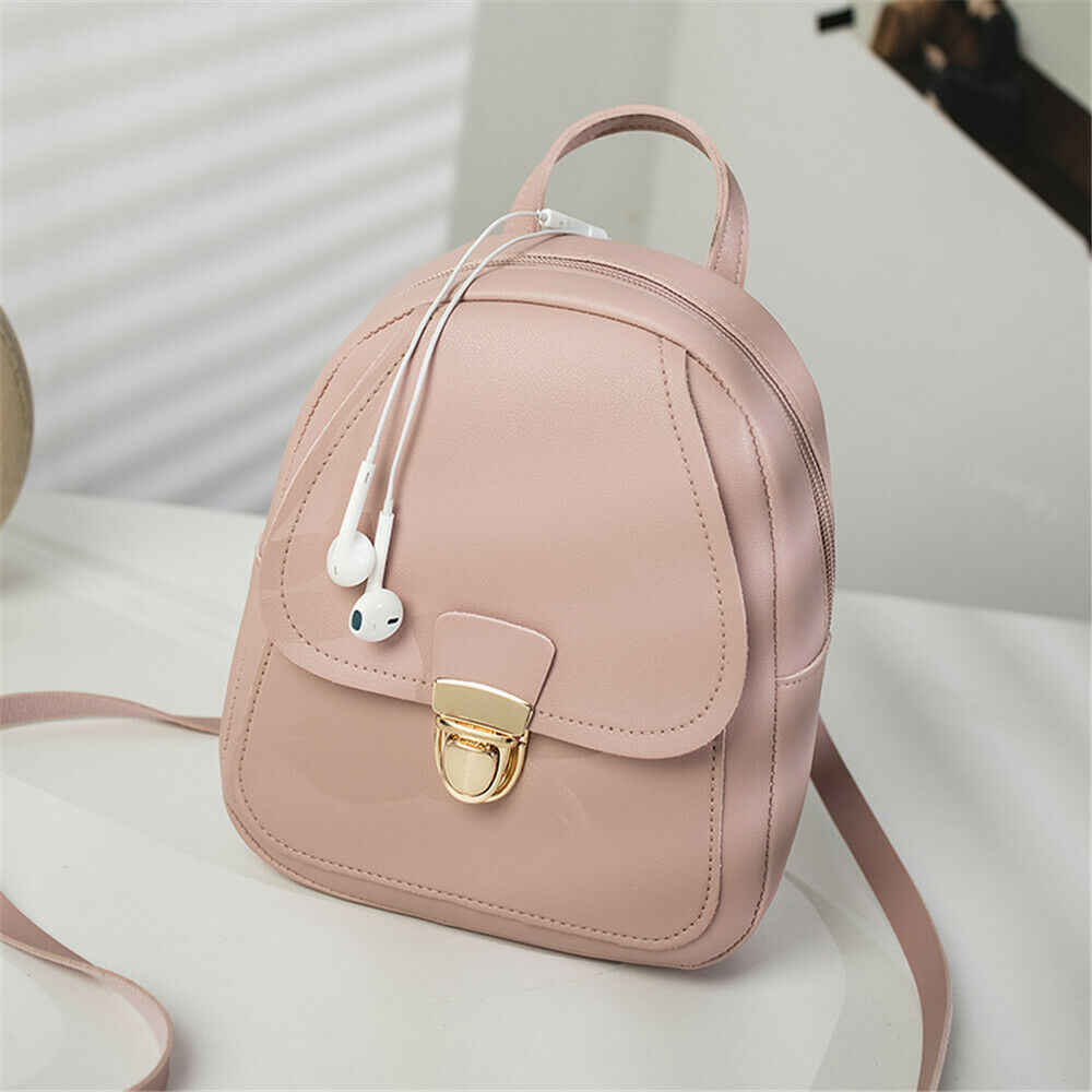 Local Stock Women Leather Backpack Children Backpack Mini Backpack Women Cute Panelled Backpacks for Teenage Girls Small Bag Hot