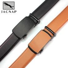JACNAIP cintura in pelle da uomo fibbia automatica più colore regolabile cinture in vera pelle nera cintura in pelle di mucca per uomo larghezza 3.5cm