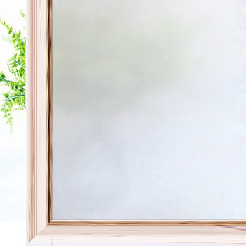 Anti-UV Matte White Window Privacy Film  Frosted Glass Covering Opaque Static Cling Glass Film Heat Control Door Sticker Decor custom window film static glass film sliding door closet door decorative film birds translucent flowers frosted glass stickers