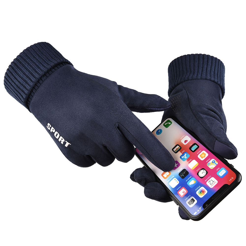 2019 Winter Touch Screen Gloves Men Cycling Driving Gloves Women Gloves Cold-proof Unisex Suede Fur Hand Muff Long Warm Gloves