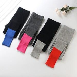 Image 4 - Женские эластичные леггинсы для фитнеса, облегающие капри из хлопка, уличная одежда, весна лето 2019