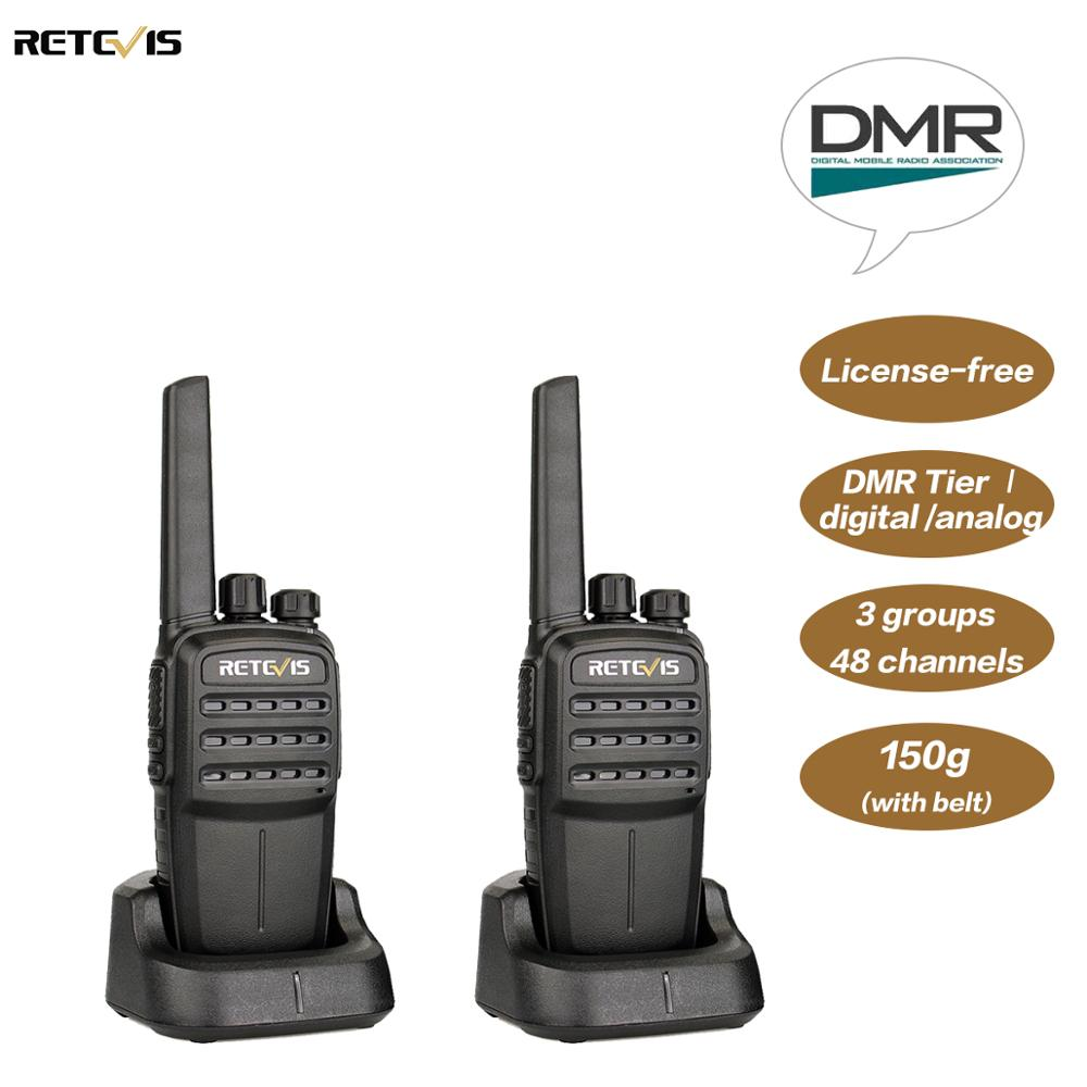 2PCS Retevis RT40 Digital Walkie Talkie FRS PMR446 DMR Tier I 0.5W Licence-free Digital/Analog Two Way Radio Hf Transceiver