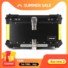 55L 65L Aluminum Motorcycle Luggage Case Storage Top Tool Bo