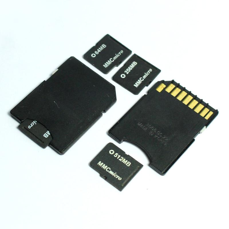 64MB 128MB 256MB 512MB 1GB Micro MMC Card Micro MultiMedia Card With Micro MMC Card Adapter MMC Memory Card For Ole Cellphone