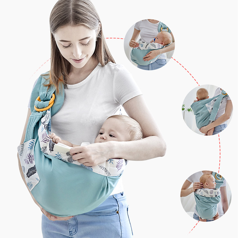 SeckinDogan Baby Carriers Cotton Wrap Sling Carrier Newborn Safety Ring Kerchief Baby Carrier Comfortable Infant Kangaroo Bag