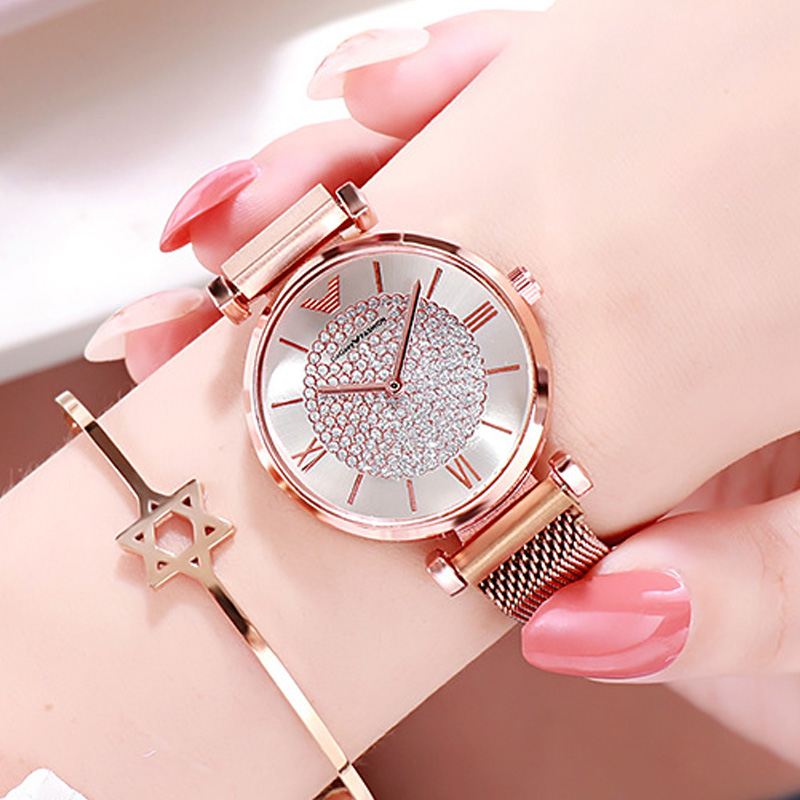 Luxury Watches For Women Crystal Dress Magnetic Watch Fashion Ladies Designer Montre Femme Wristwatch Waterproof Clock 2020 Xfcs