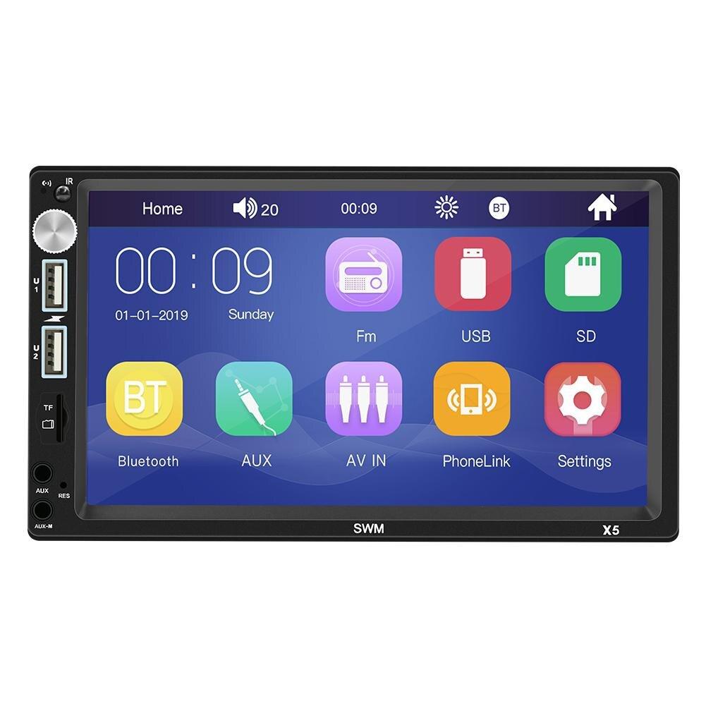7 pouces 2 DIN X5 voiture Bluetooth MP5 lecteur voiture Audio MP4 carte U disque FM Radio contrôle Central Modification accessoires