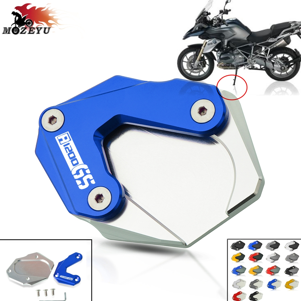Motorcycle Kickstand Side Stand Enlarge Plate Pad Base for BMW R1200GS 2013-2017