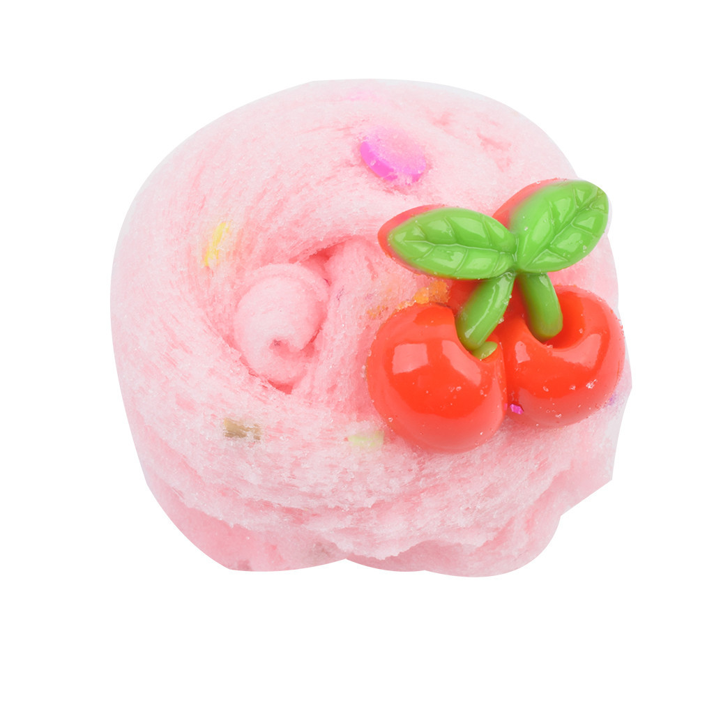 New 6 Color Cloud Mud DIY Fruit Animal Accessories Slime Kids Clay Toys Interesting Soft Fluffy Slime Toys Supplies #B