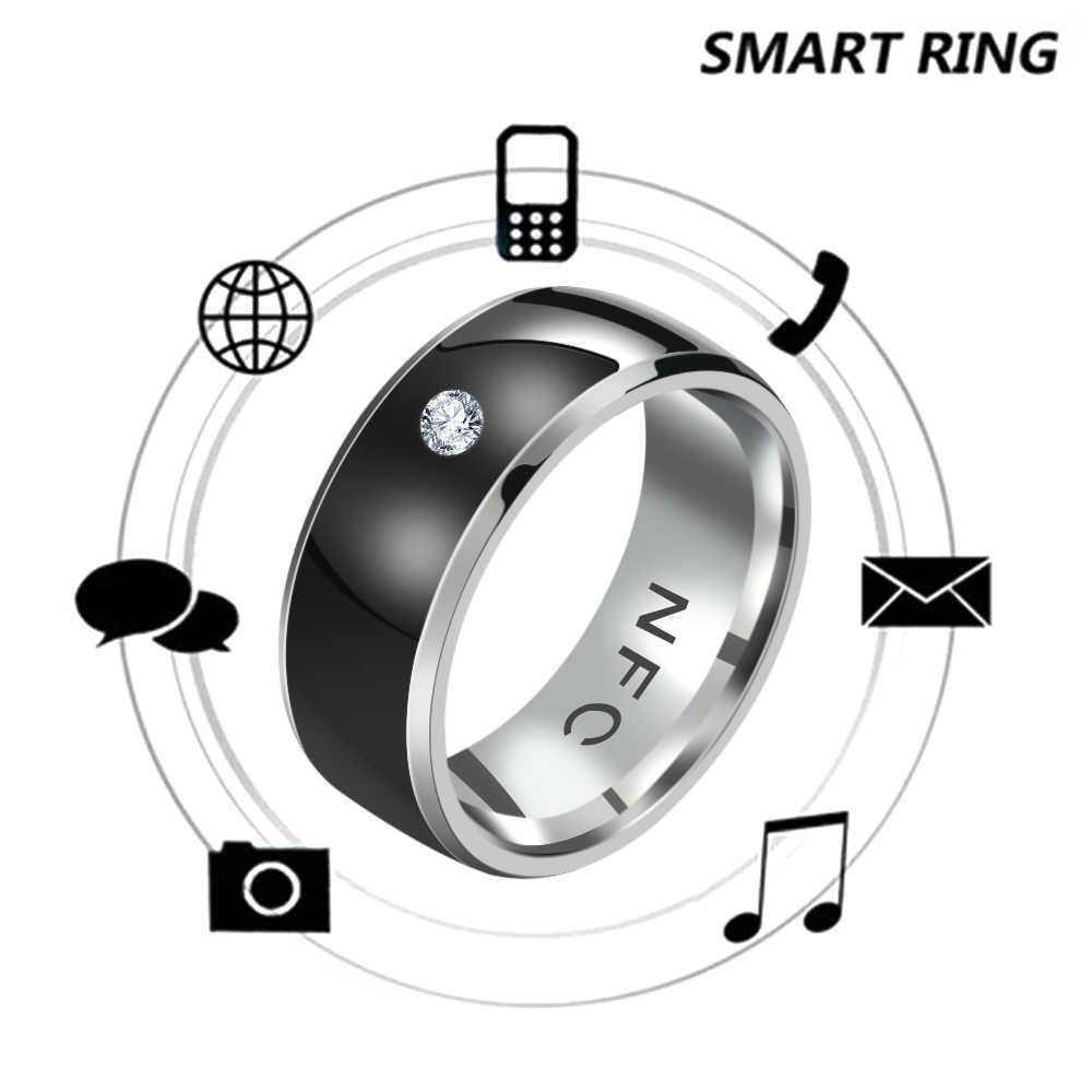 1PC แฟชั่นอัจฉริยะแหวนหรือสมาร์ทการวัดอุณหภูมิคู่ดิจิตอลแหวนเครื่องประดับ