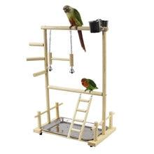 Papagaio playstands brinquedos bandeja pássaro balanço escalada pendurado escada ponte de madeira cockatiel parque infantil poleiros pássaro alimentador