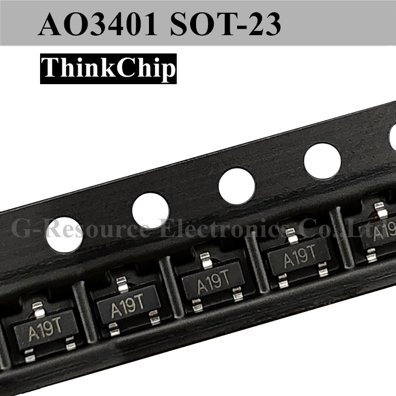 Free Shipping 50 Pcs / Lot AO3401 A19T SOT-23 SMD Field Effect Transistor P-Channel MOS-FET New Original