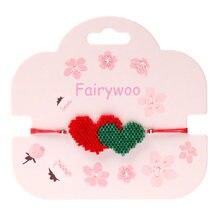 Fairywoo Миюки браслет с бусинами в форме сердца стиле стимпанк