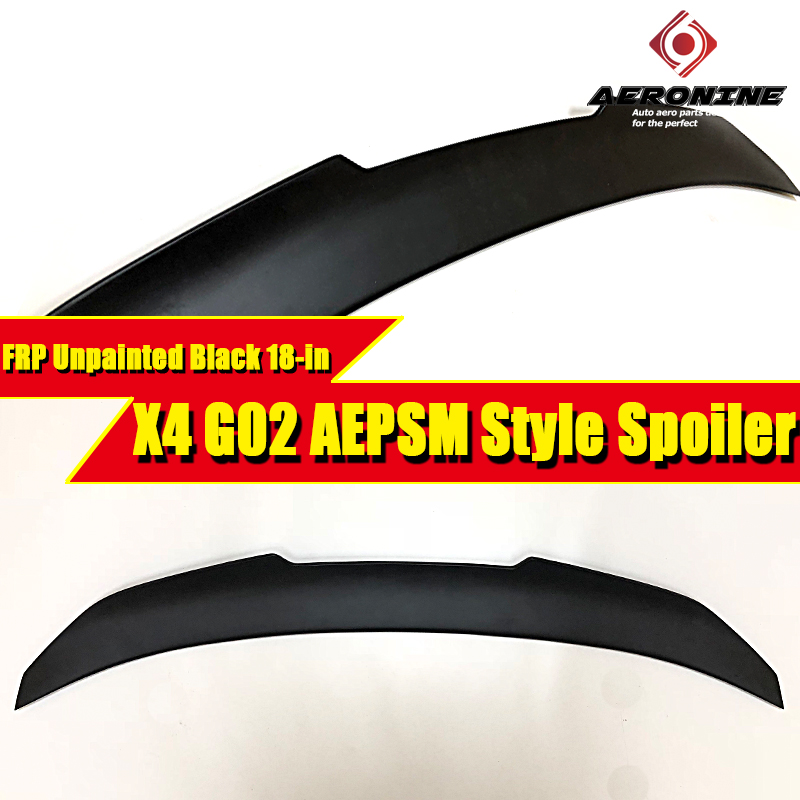 G02 Spoiler X4 style FRP Unpainted rear lip wings For BMW PSM wing Lip diffuser trunk 2018-in