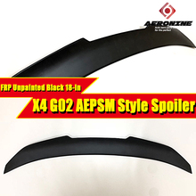 G02 Spoiler X4 style FRP Unpainted rear lip wings For BMW X4 G02 PSM style Spoiler wing Lip rear diffuser trunk Spoiler 2018-in стоимость