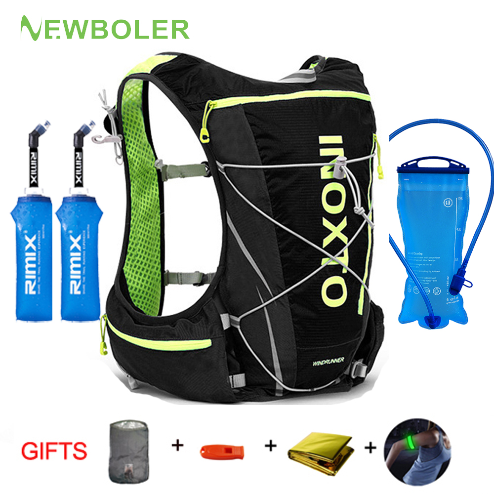 NEWBOLER  8L 10L Women Men Bag Marathon Hydration Vest Pack For 2L Water Bag Cycling Hiking Bag Outdoor Sport Running Backpack
