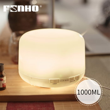 FUNHO 1000ml Aroma Essential Oil Diffuser Ultrasonic Air Humidifier mist maker 7 Color Changing LED Lights for Office Home funho aroma diffuser mini air humidifier oil humificador aromaterapia para casa 5 color selectable for home office car 078