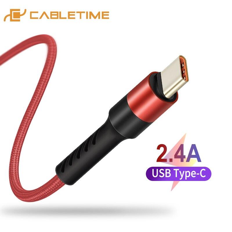 US $3.9 |CABLETIME kabel USB C typ C kabel do telefonu komórkowego szybkie ładowanie kabel do telefonu Samsung S9 Huawei P10 Nintendo Oneplus 5 czarny C245 w Kable do telefonów komórkowych od Telefony komórkowe i telekomunikacja na AliExpress