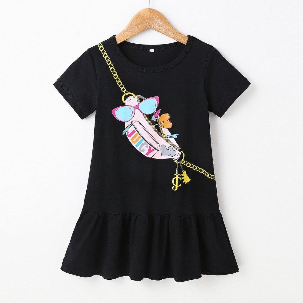 LZH Children's Dress 2021 Summer Kids Dresses For Girls Casual Cartoon Print Princess Dress Toddler Girls Clothes 3 4 5 6 7 year