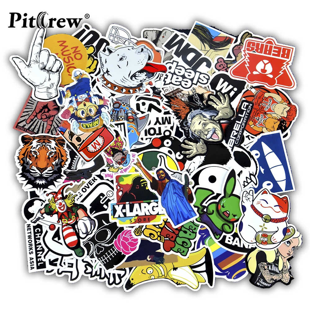 50 Stuks Grappige Auto Stickers Op Motorfiets Koffer Home Decor Telefoon Laptop Covers Diy Vinyl Decal Sticker Bomb Jdm Auto styling
