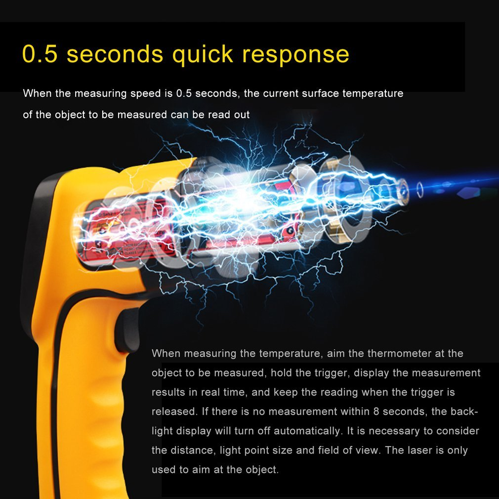Non-contact Infrared Thermometer Gun For Quick Measuring Adult Baby Body Temperature High-Precision Temperature Measuring Tool