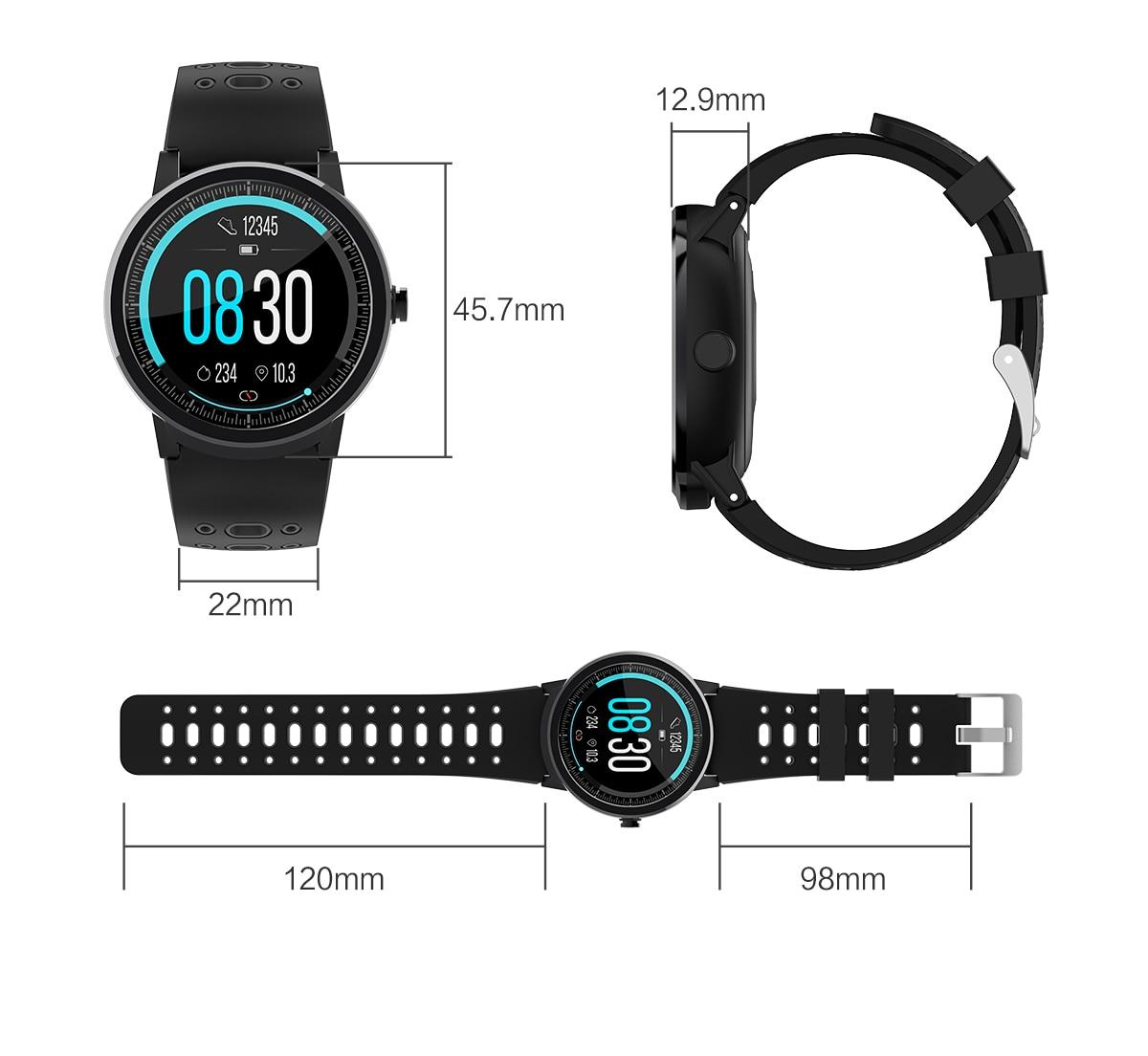 homens pressão arterial smartwatch relógios à prova