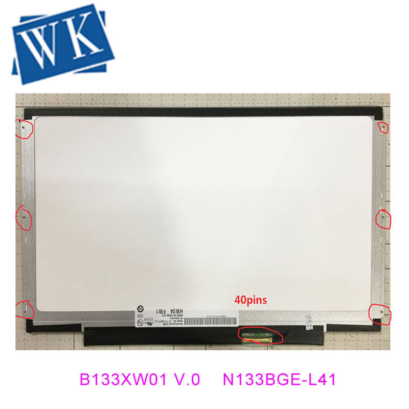 13.3 Led Screen B133XW03  V.1 LTN133AT16 B133XW01 V.0 CLAA133WA01A N133BGE-L31 LN133AT28 B133XW03  V.4