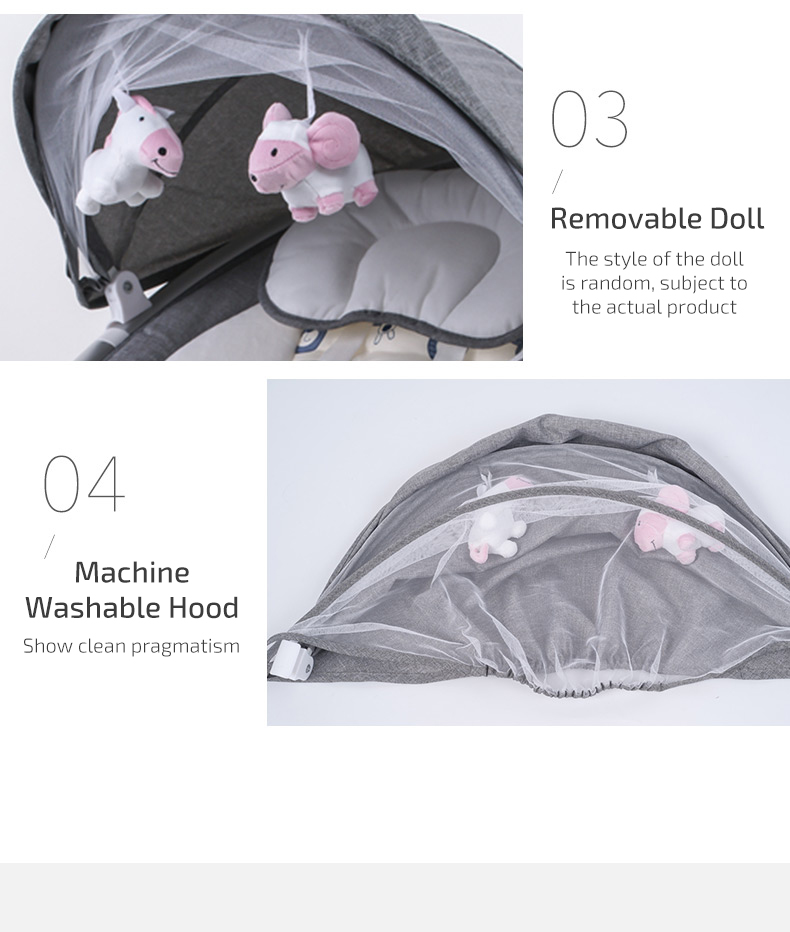 Ha887461e8b634c7bb735753a48f2c873g Infant Shining Smart Baby Rocker Electric Baby Cradle Crib Rocking Chair Baby Bouncer Newborn Calm Chair Belt Remote Control