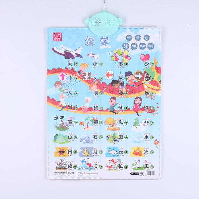 KL Infants Early Education ENLIGHTEN Figure Touch Pronunciation Audio Chart Education Educational Toy
