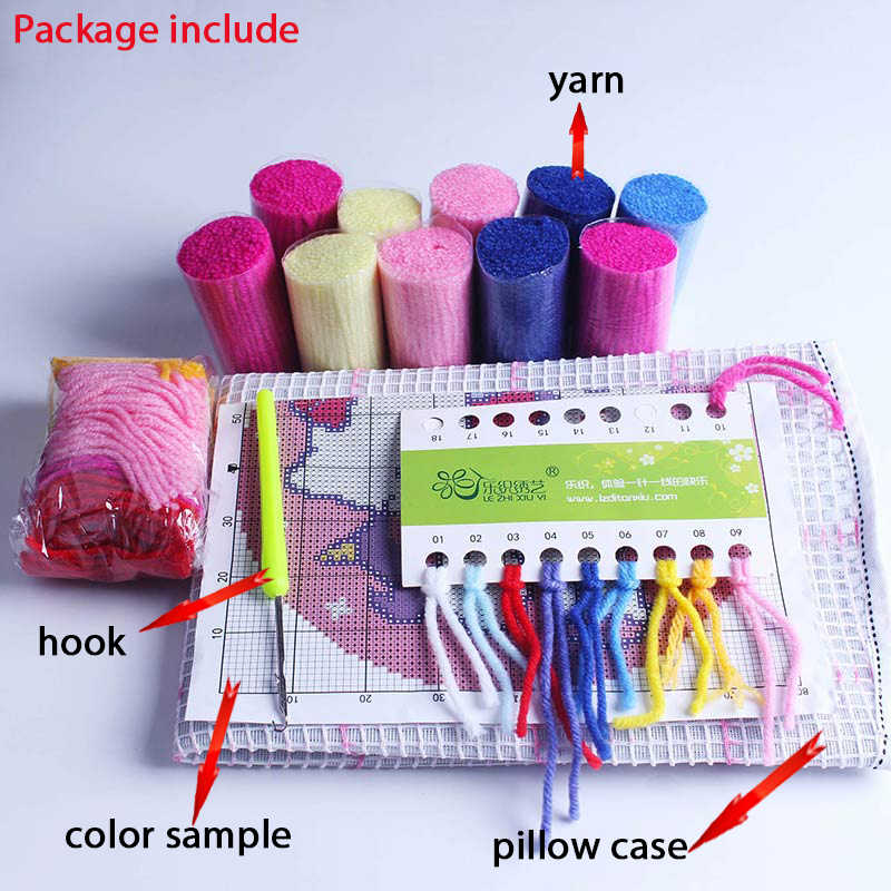 Nicediy cross-stitch kit gancio di Chiusura tappeto kit di ricamo stair tappeto stuoie discussioni A Punto ricamo Tappeto filato per lavorare a maglia