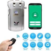 WAFU Smart WiFi Electronic Lock Remote Control Invisible Keyless Entry Door Lock Zinc Alloy Metal Smart Door Lock