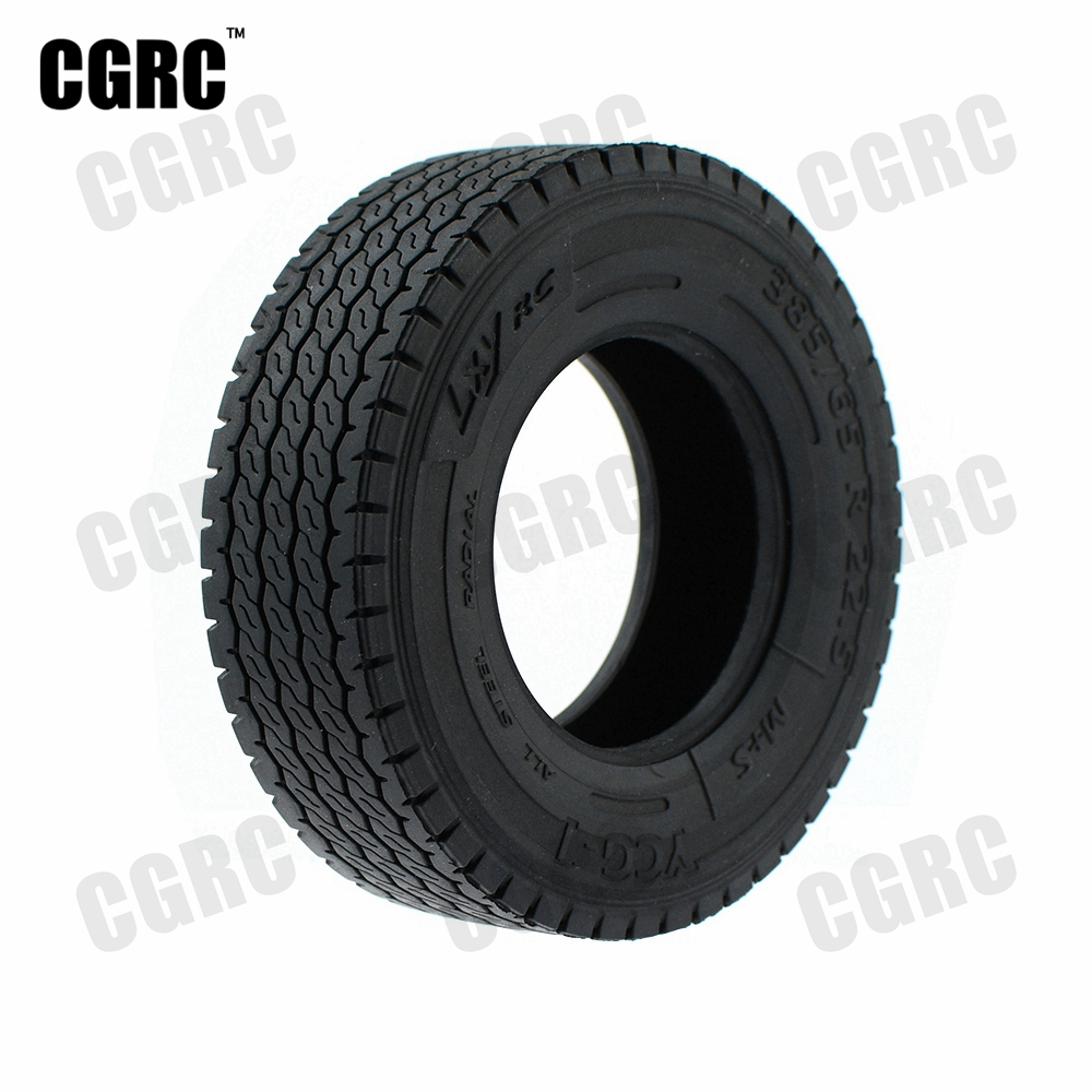1 Pair High Quality Rubber All-terrain Tire Thicken Widen 20mm/25mm For 1/14 Tamiya RC Truck Tipper Man Scania Actros R620 R470 image
