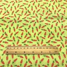 50*145 см, Полиэстер, Хлопок, ткань с принтом кролика и морковки для шитья, сделай сам, лоскутное шитье, сумки для детской одежды, 1Yc9132