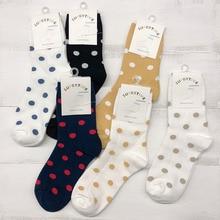 6pair/lot New cotton Dot socks in winter Women warm solid Warm