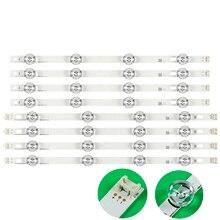 LED الخلفية شريط مصابيح 8 المصابيح ل LG 42LY320C LC420DUE INNOTEK DRT 3.0 42 بوصة التلفزيون 42LY540H 42LF652V 42LF653V 42LB5510