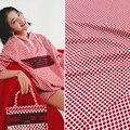 Rosa windjacke Polka dot gedruckt polyester material Mode frauen kleidung gedruckt stoff tuch für kleid durch die meter