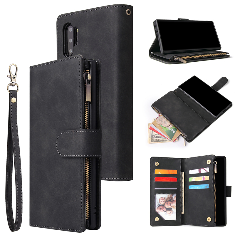 A51 A71 A41 Zipper Wallet Leather Phone Case For Samsung Galaxy S21 S20 Ultra S10 Plus S9 S8 S10e Note 20 10 A50 A70 Flip Case