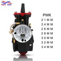 For PWK 21 24 26 28 30 32 34 For Keihin PWK Aluminum Alloy Carburetor Carburador With Power Jet Black For Racing Moto 50cc 250cc