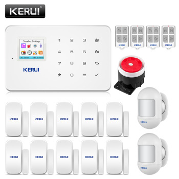 KERUI G18  Alarm Systems Security Home IOS APP Home Anti-theft Alarm System Motion Sensor  gsm Alarm System Smart House Kit 1